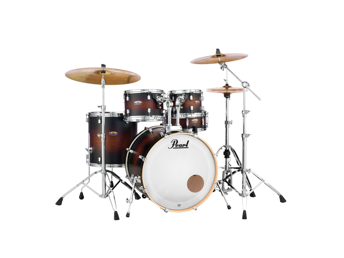 Pearl Decade Maple Standard Trommesæt - Inklusiv Hardwarepakke Satin Brown Burst