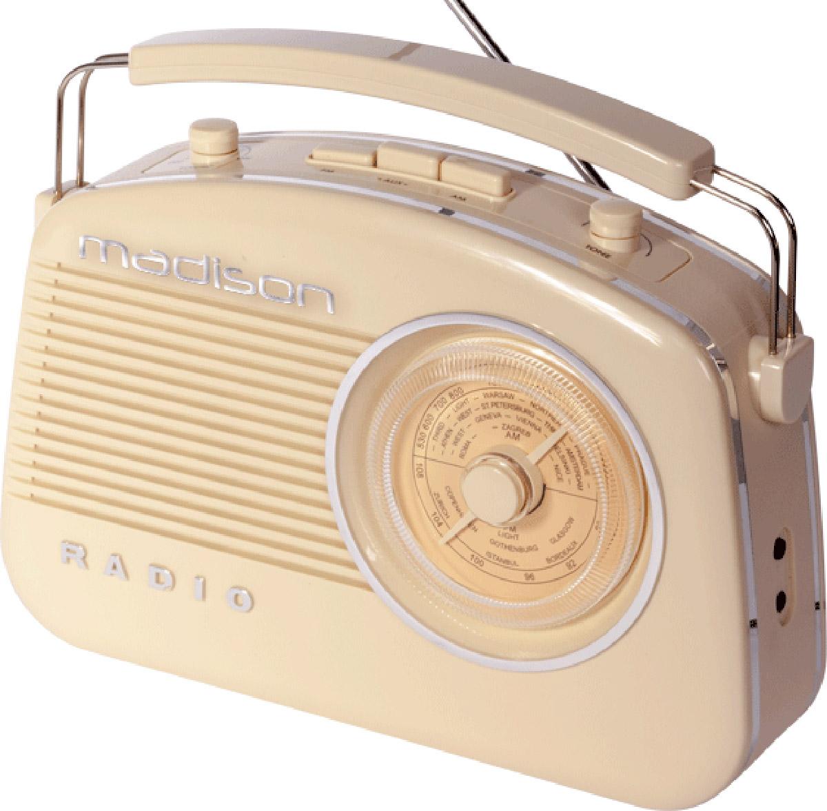 Madison retro radio m. Bluetooth, beige
