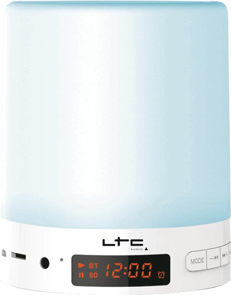Image of   Bluetooth højttaler med RGB Lys, FM-Radio & Ur