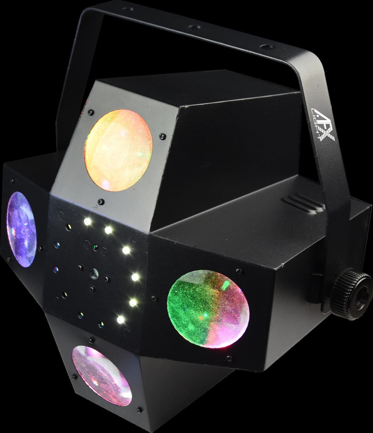 AFX DMX Kontrolleret LED, STROBE, RG laser effekt.