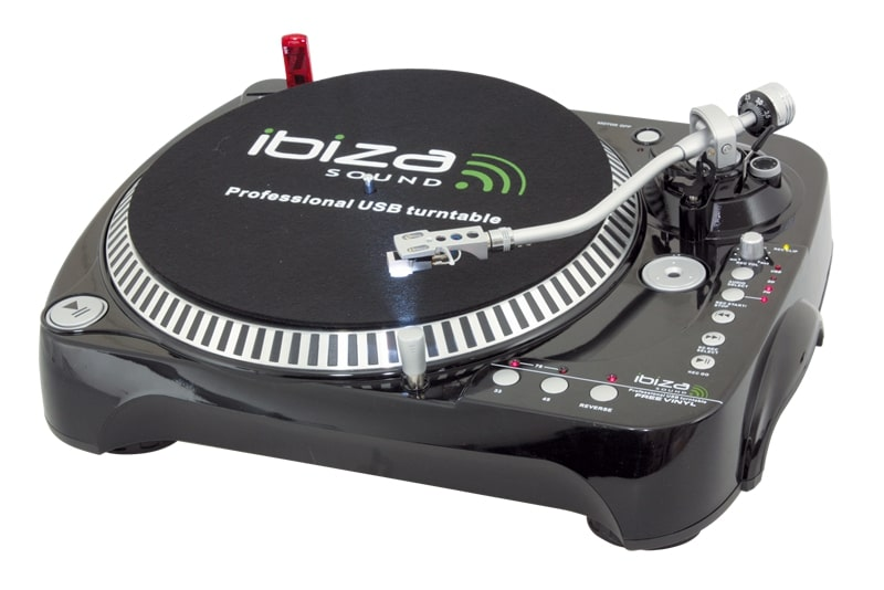 Ibiza Turntable with USB / SD recorder