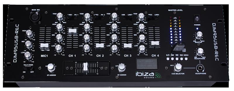 "Ibiza 19"" Mixer med USB/SD afspiller"