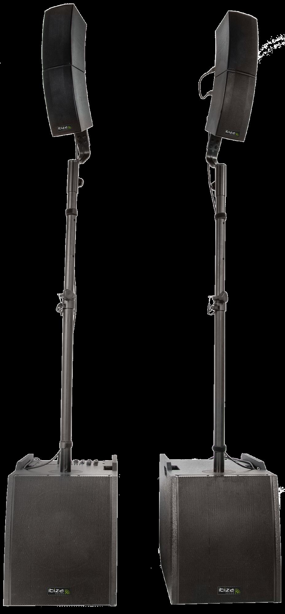 Ibiza Aktiv combo højttaler system 2.2