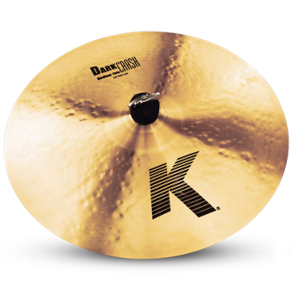 "Image of   Zildjian 16"" K Dark Medium Thin Crashbækken"