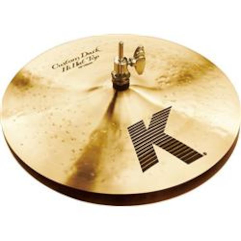 "Image of   Zildjian 13"" K Custom Dark Hi-hat"