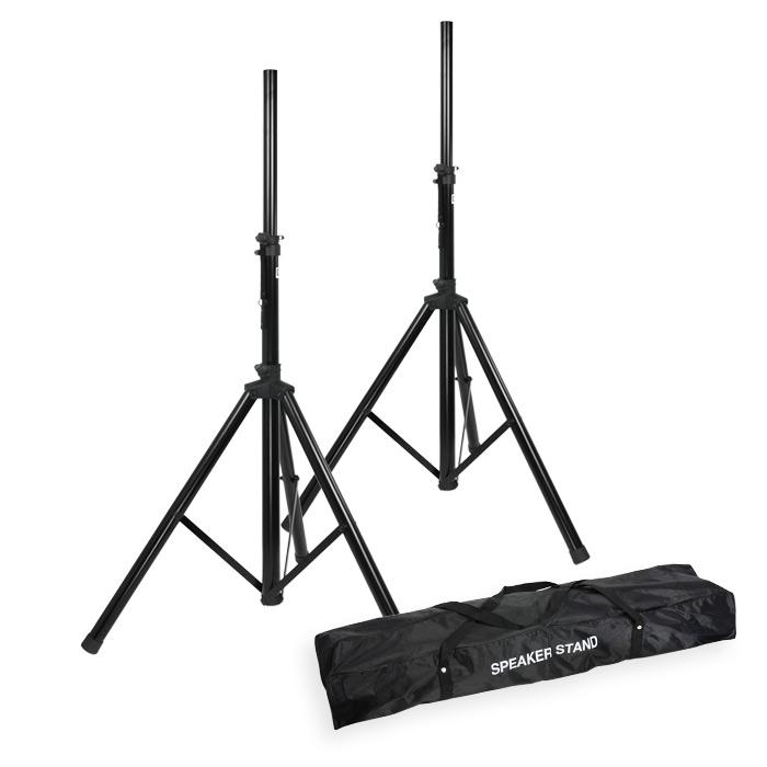 Image of   2 stk. Højttaler stativer med taske (25kg/1,95m)