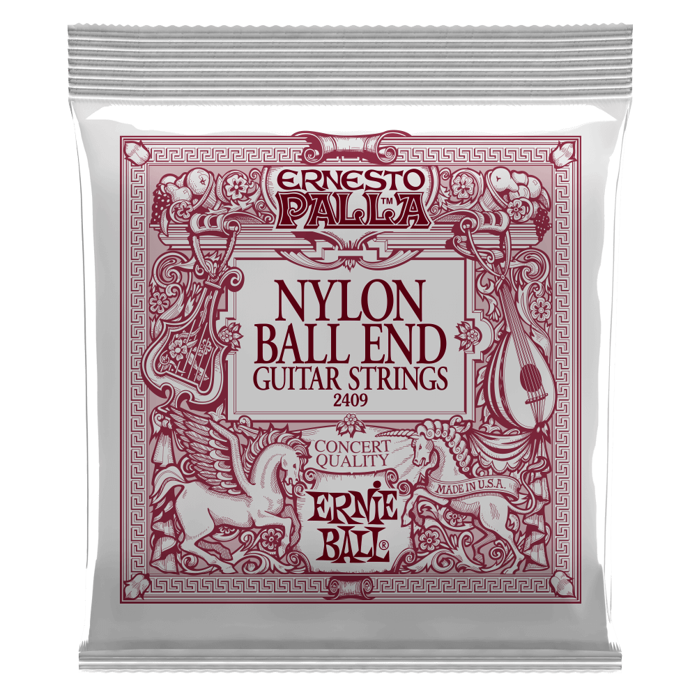 Ernie Ball Ernesto Palla Black Nylon Gold Ball Guitarstrenge, Klassisk