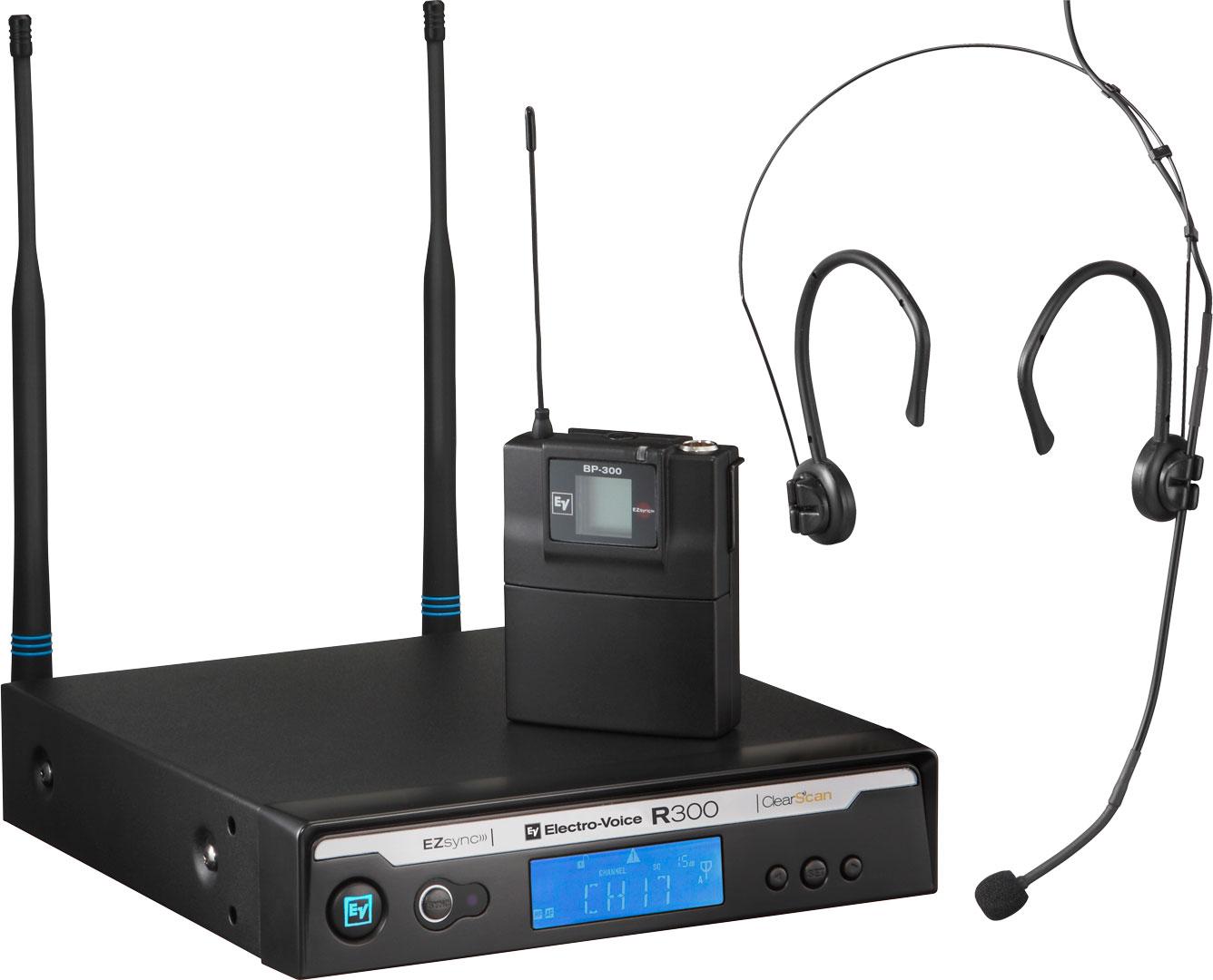 Electro-Voice R300-E Trådløs Headset mikrofon Frekvensbåndbredde A (618 - 634 MHz)