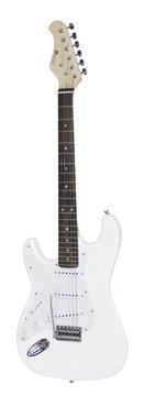 DiMavery ST-203 El-Guitar LH, Hvid