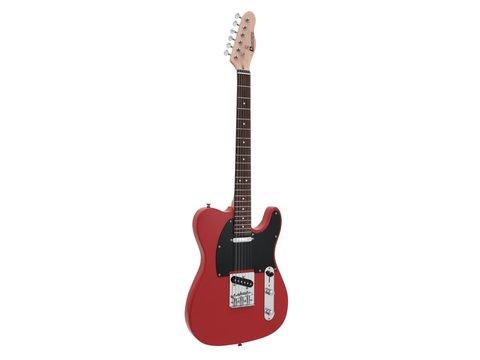 DiMavery TL-401 El-Guitar, Rød