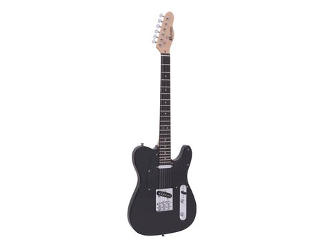 DiMavery TL-401 El-Guitar, Sort