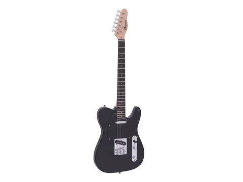 Image of   DiMavery TL-401 El-Guitar, Sort