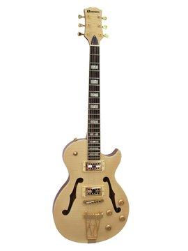 DiMavery LP-600 El-Guitar, Naturur Ahorn