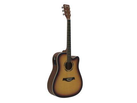 DiMavery DR-520 Western Guitar, Sunburst