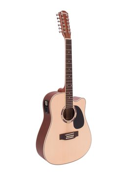 Image of   DiMavery DR-612 Western Guitar 12-strenget - Natur