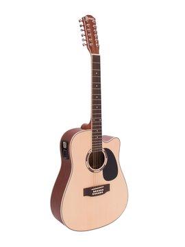 DiMavery DR-612 Western Guitar 12-strenget, Naturur