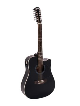DiMavery DR-612 Western Guitar 12-strenget, Sort
