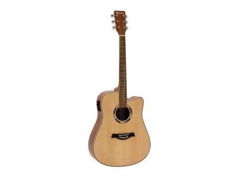 DiMavery JK-500 Western Guitar, Cutaway, Naturur
