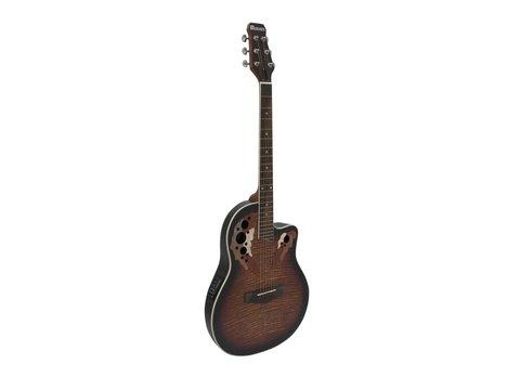 Image of   DiMavery OV-500 Roundback Guitar - Sunburst