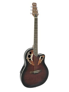 DiMavery OV-500 Roundback Guitar, Rød
