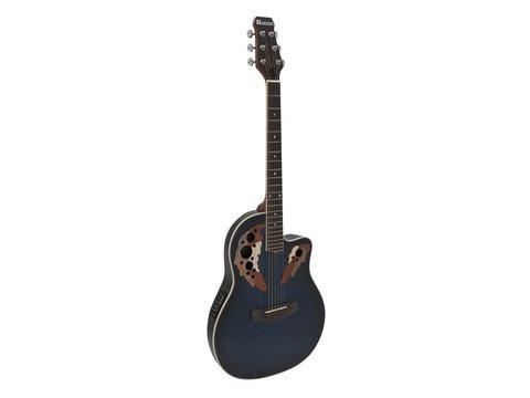 DiMavery OV-500 Roundback Guitar, Blå