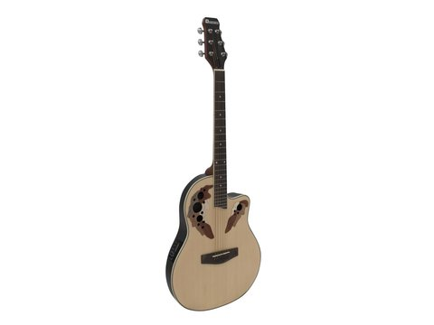 DiMavery OV-500 Roundback Guitar, Naturur