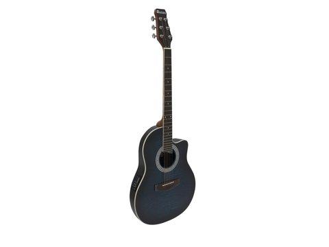 DiMavery RB-300 Roundback Guitar, Blå