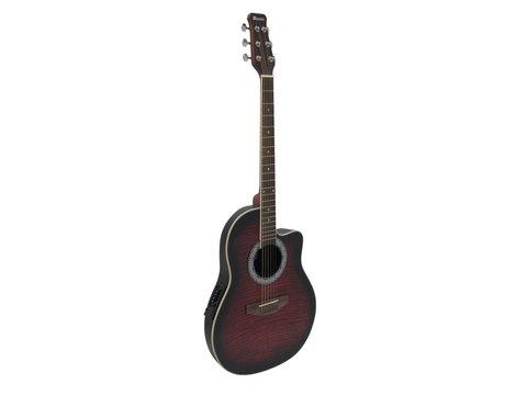 DiMavery RB-300 Roundback Guitar, Rød