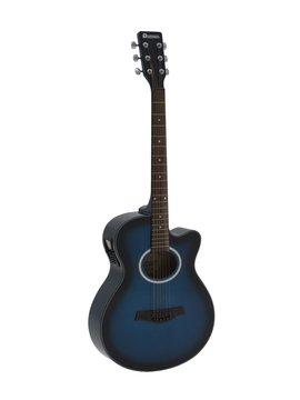 DiMavery AW-400 Western Guitar, Blå burst
