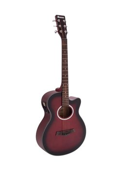 DiMavery AW-400 Western Guitar, Rødburst