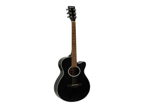 DiMavery AW-400 Western Guitar, Sort