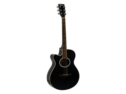 DiMavery AW-400 Western Guitar LH, Sort