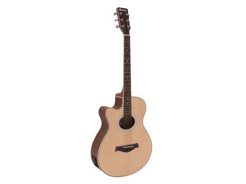 DiMavery AW-400 Western Guitar LH, Naturur
