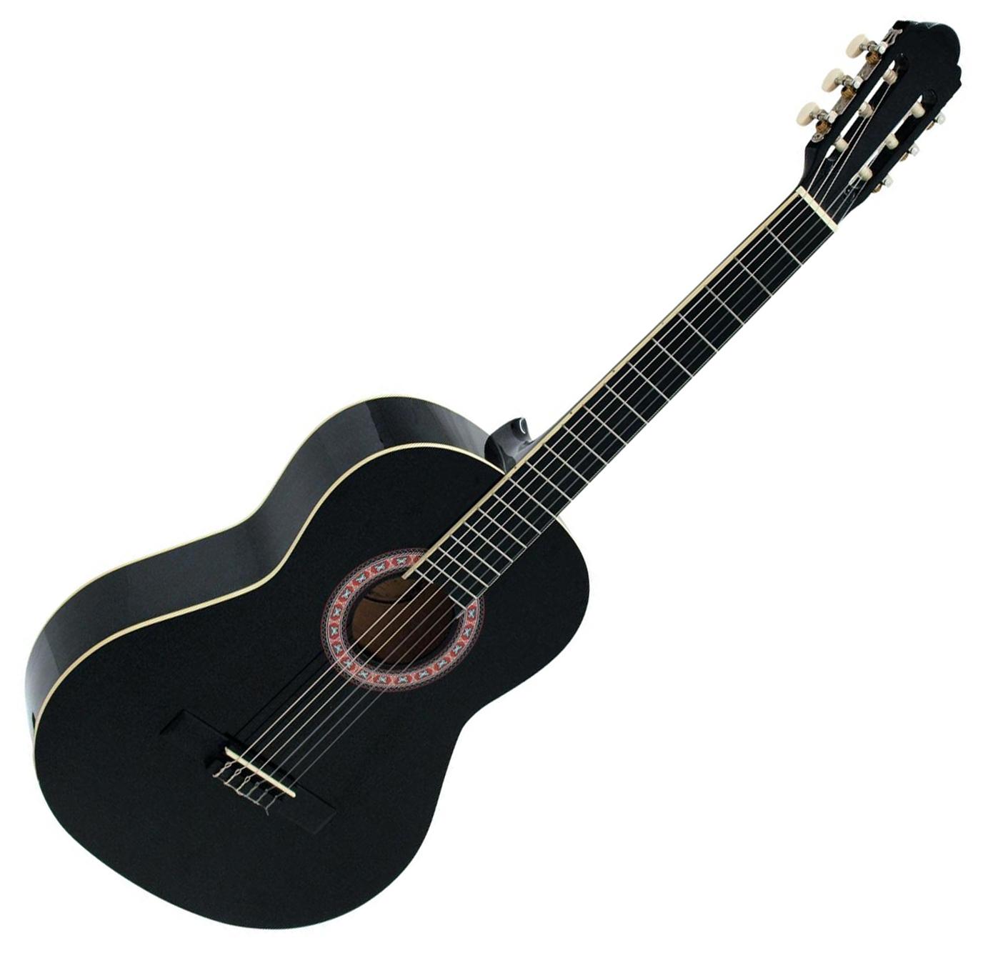 DiMavery AC-303 klassisk spansk guitar 4/4, Sort