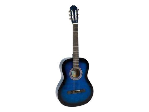 DiMavery AC-303 Klassisk Guitar, Blå burst