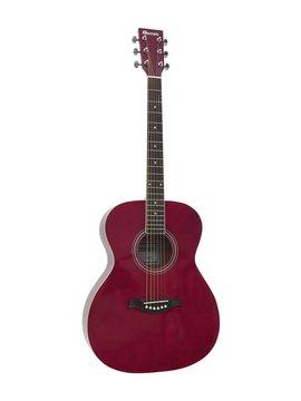 DiMavery AW-303 Western Guitar Rød