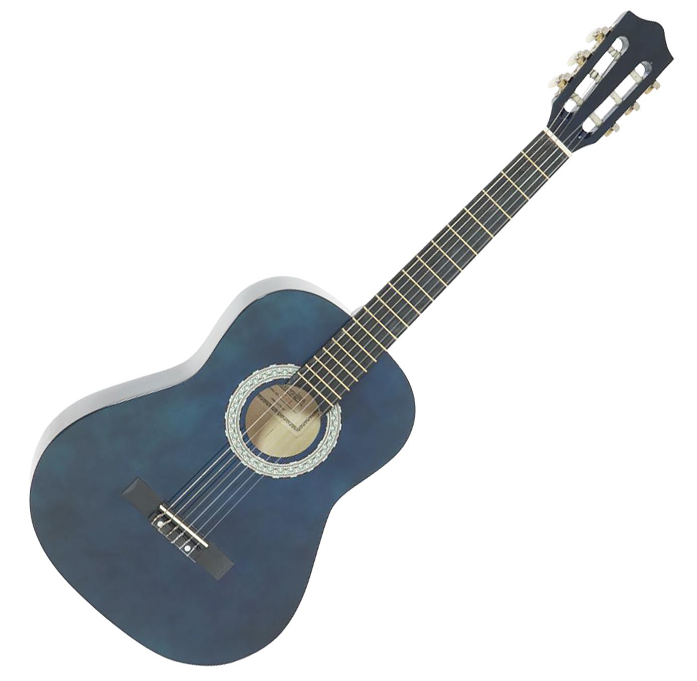 DiMavery AC-303 klassisk spansk guitar 3/4, blå