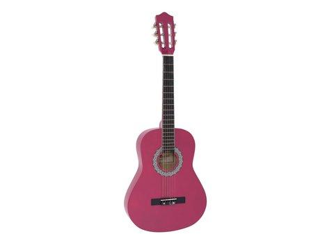 DiMavery AC-303 Klassisk Guitar 3/4, Pink