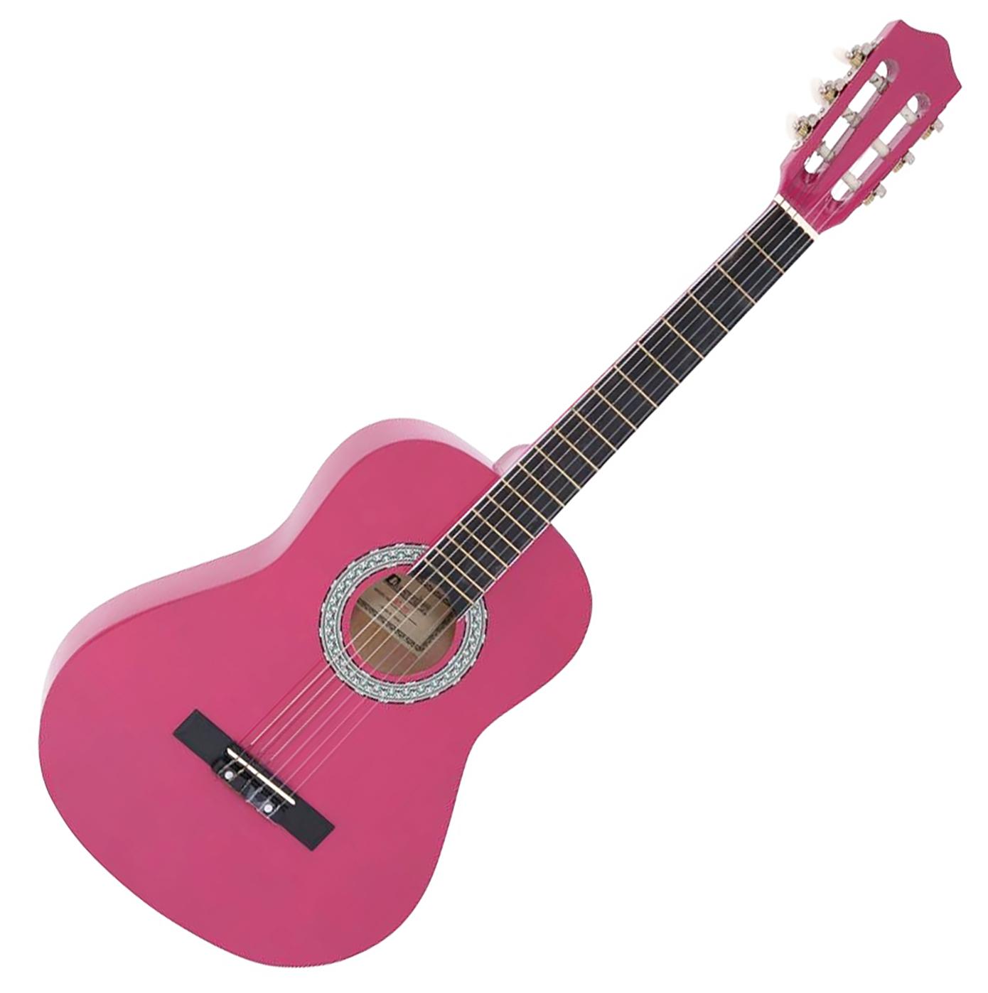 DiMavery AC-303 klassisk spansk guitar 3/4, pink