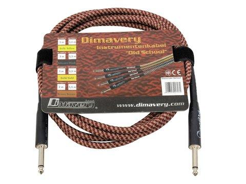 Billede af DiMavery Instrument-kabel, 3m, Brun/Rød