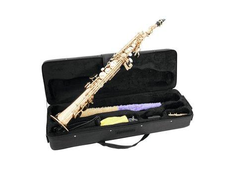 DiMavery SP-10 Bb Soprano Saxofon, Guld