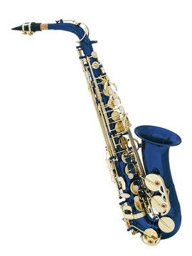 DiMavery SP-30 Eb Alto Saxofon, Blå