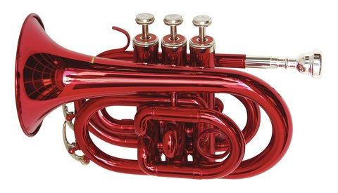 DiMavery TP-300 Bb Pocket Trumpet, Rød