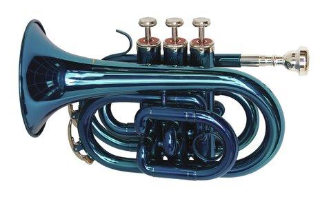 DiMavery TP-300 Bb Pocket Trumpet, Blå