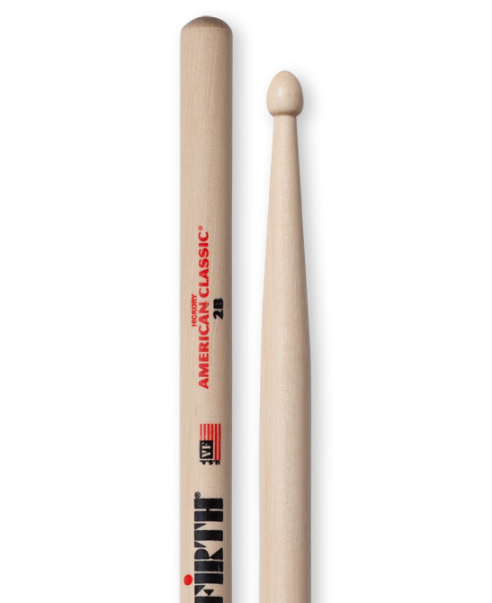 Image of   Vic Firth 2B trommestikker