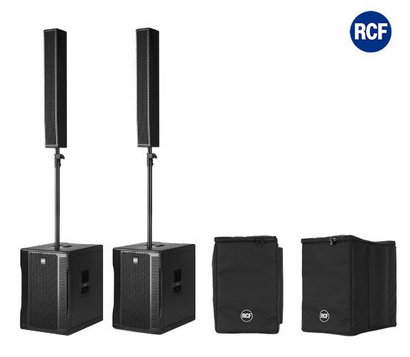 Image of   RCF EVOX12 højttaler system 2 sæt SUB & Top incl. cover