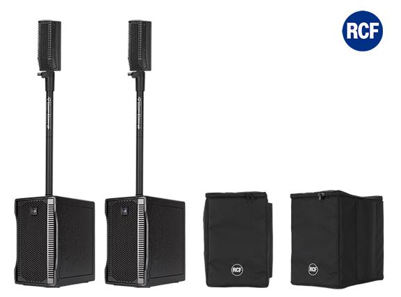 Image of   RCF EVOX5 mk2 højttaler system 2 sæt SUB og Top m/cover