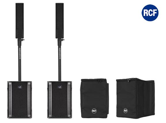 Image of   RCF EVOX8 mk2 højttaler system 2 sæt SUB & Top m/cover