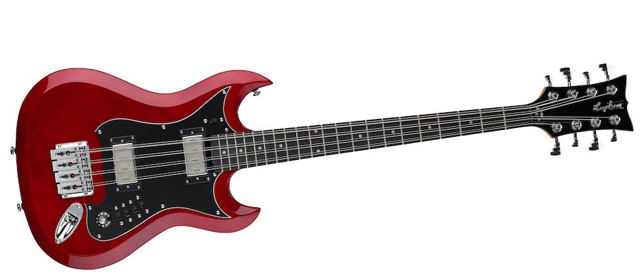 Hagström H8II 8-stringed Bass Kirsebærrød