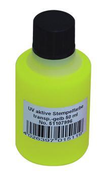 Eurolite UV Stempel væske 50ml Gul